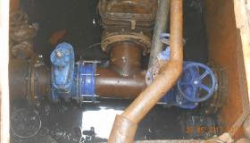 Проведена большая работа по модернизации и замене запорной арматуры d300